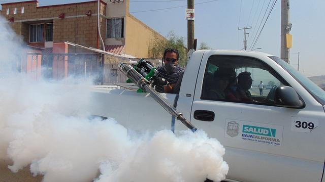 fumigating truck